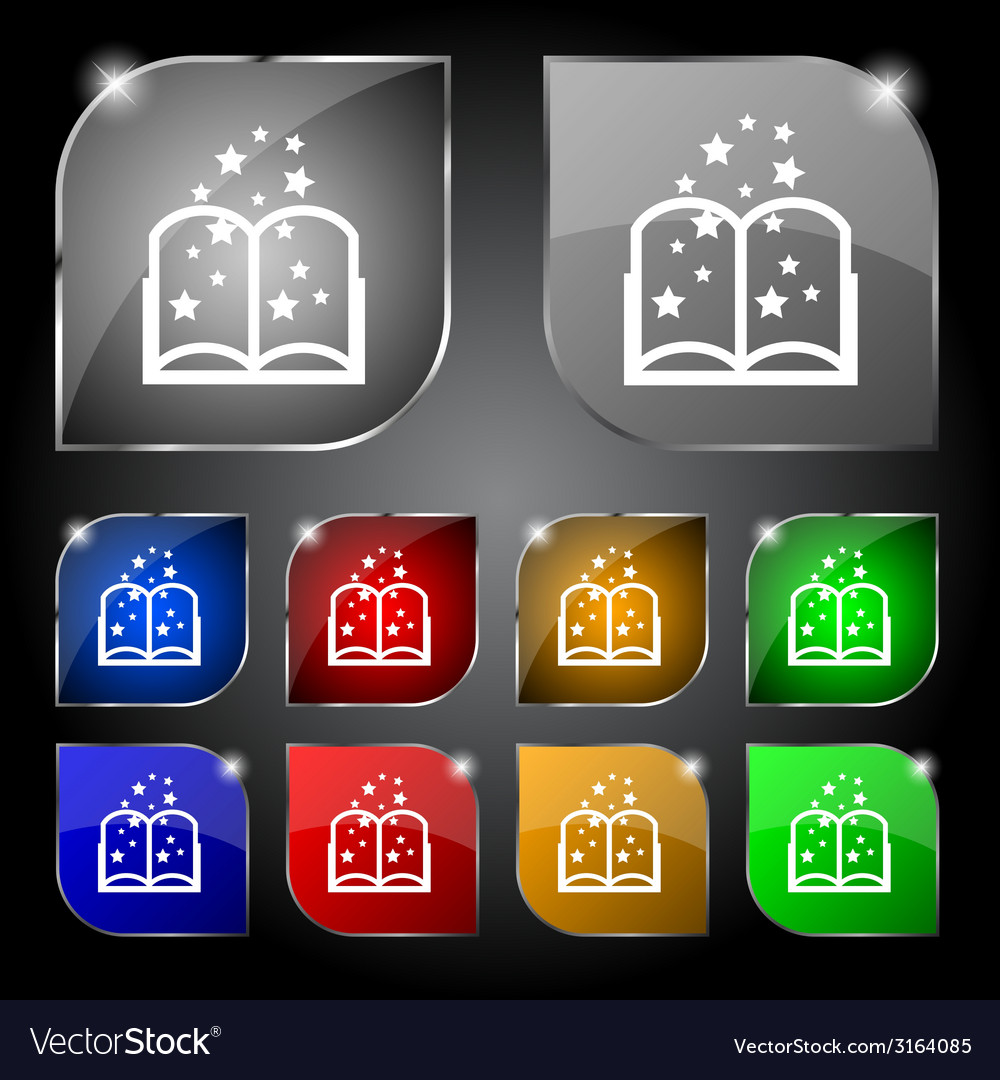 Magic book sign icon open book symbol set of vector   Price: 1 Credit (USD $1)