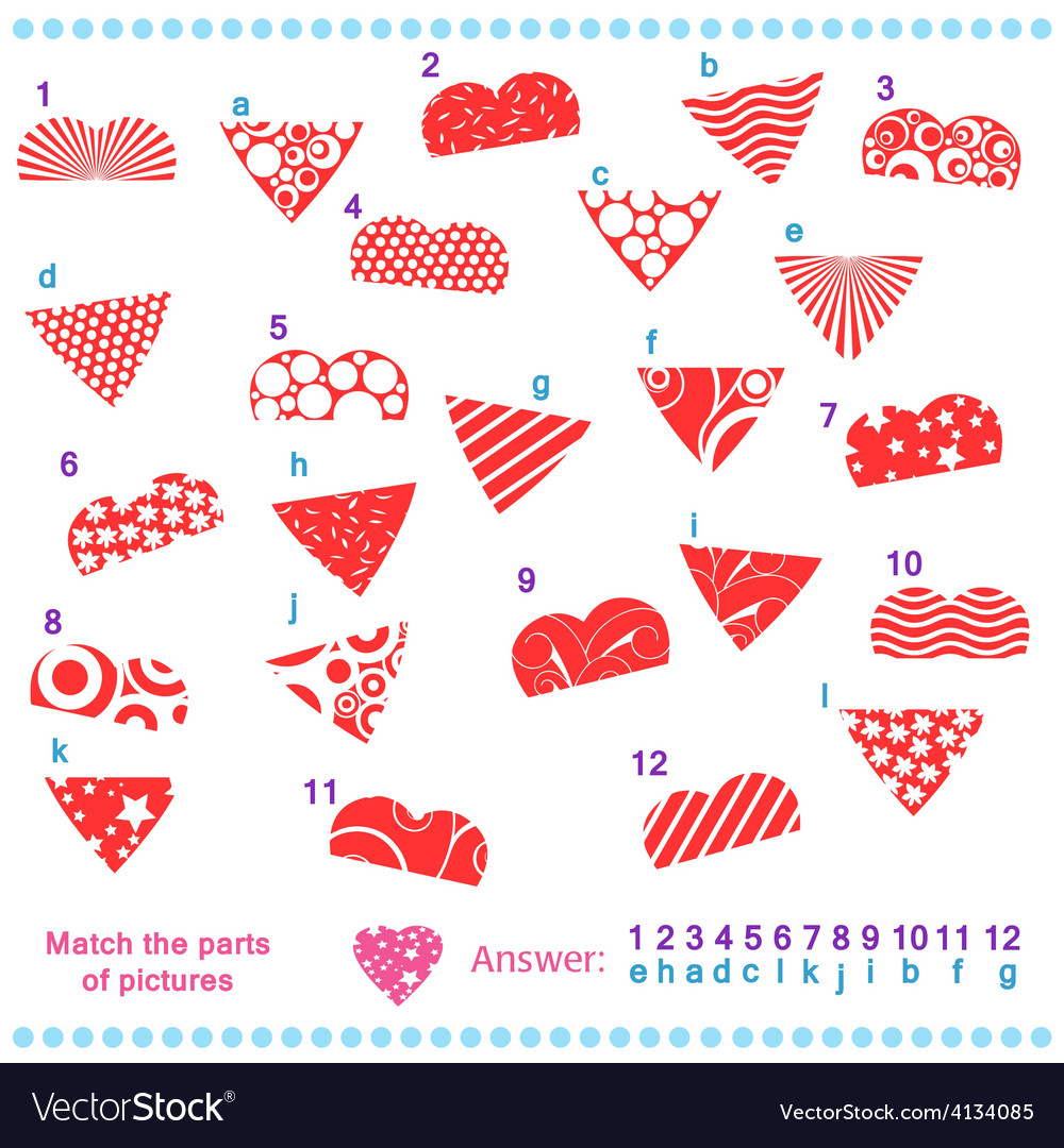 Match the parts of pictures vector | Price: 1 Credit (USD $1)