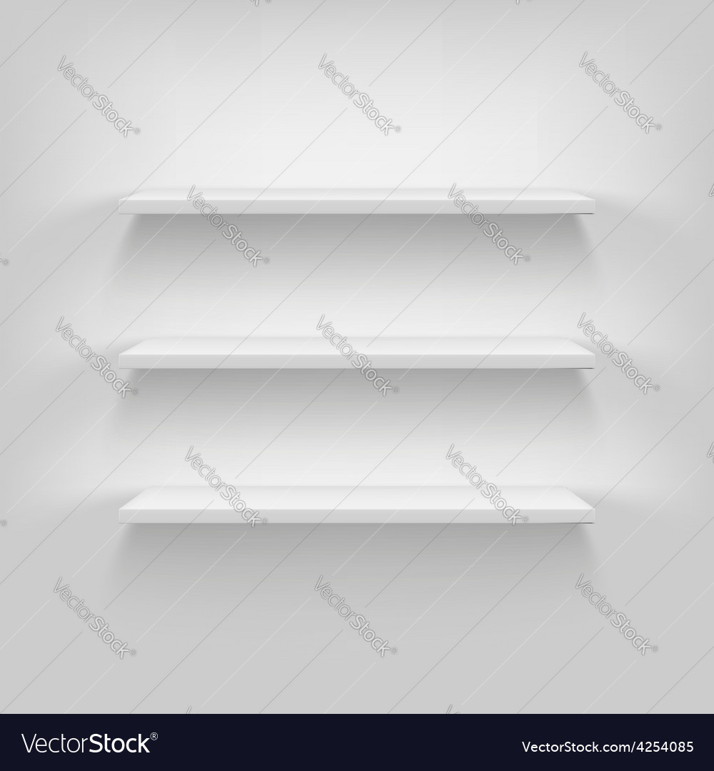 Shelves attached to the wall vector | Price: 1 Credit (USD $1)