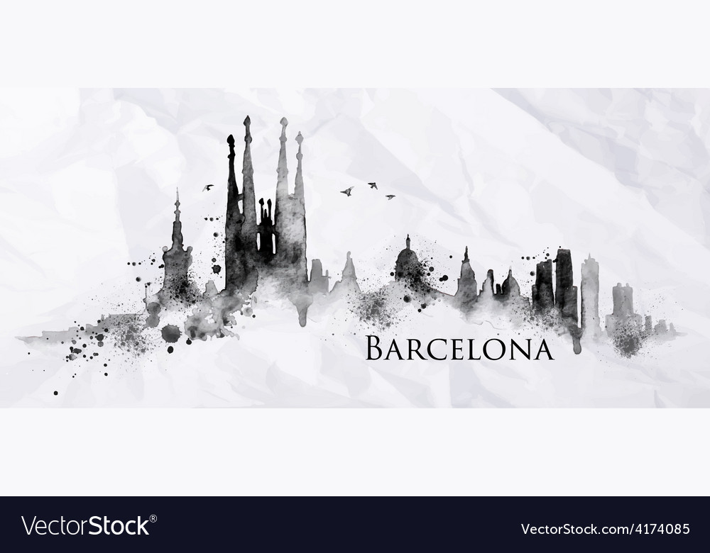 Silhouette ink barcelona vector | Price: 3 Credit (USD $3)