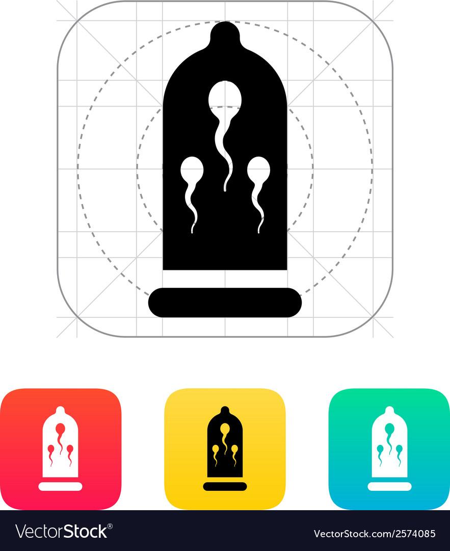 Sperm in condom icon vector | Price: 1 Credit (USD $1)
