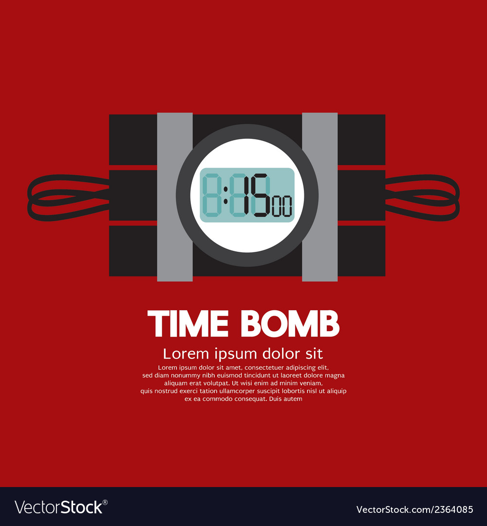 Time bomb vector | Price: 1 Credit (USD $1)