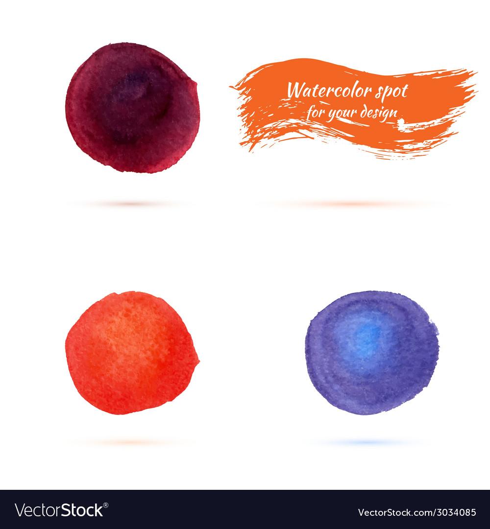 Watercolor spots for design elements vector | Price: 1 Credit (USD $1)