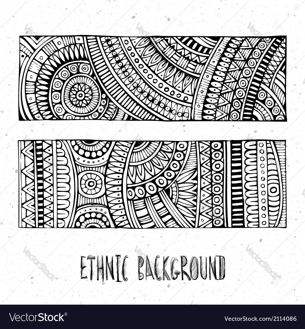 Abstract hand drawn ethnic pattern vector | Price: 1 Credit (USD $1)