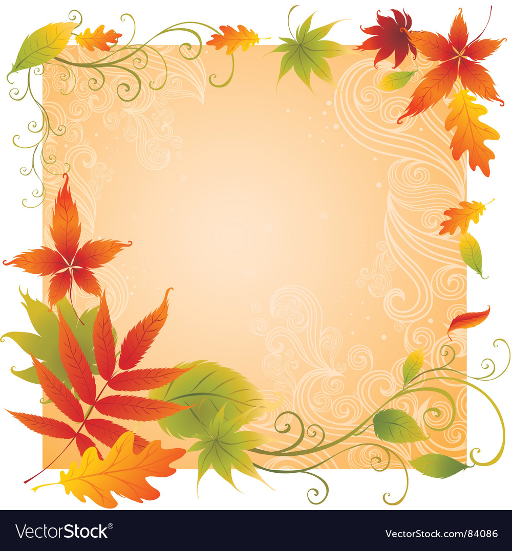 Background with colorful autumn leaves vector | Price:  Credit (USD $)