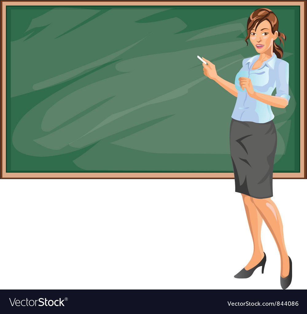 Female teacher vector | Price: 1 Credit (USD $1)