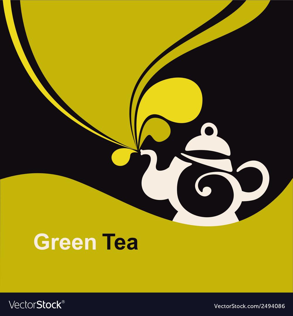 Green tea vector | Price: 1 Credit (USD $1)