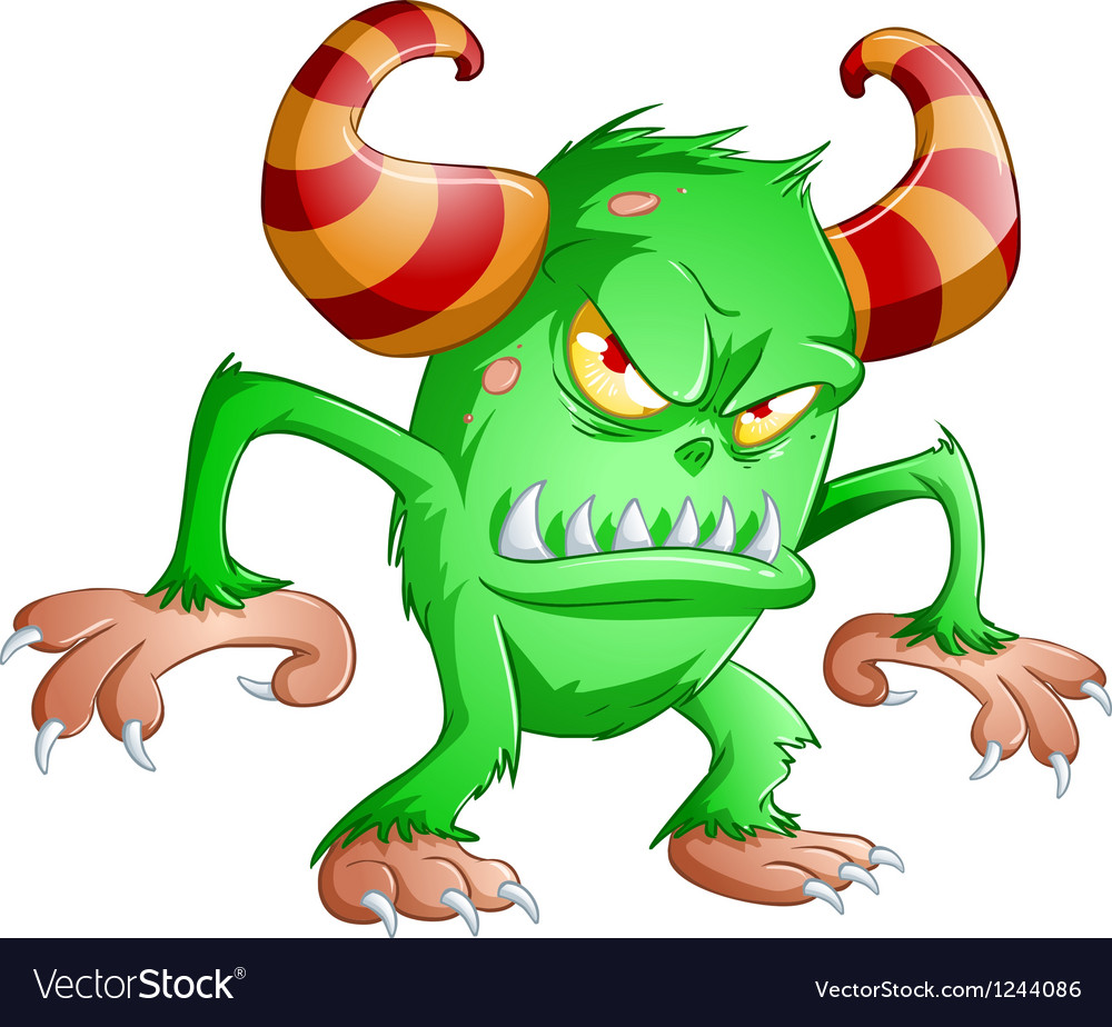 Halloween monster 3 vector | Price: 3 Credit (USD $3)