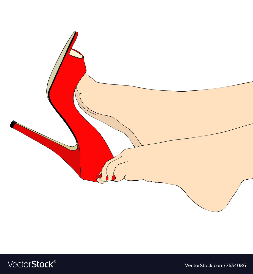 Legs and sexy shoes vector | Price: 1 Credit (USD $1)