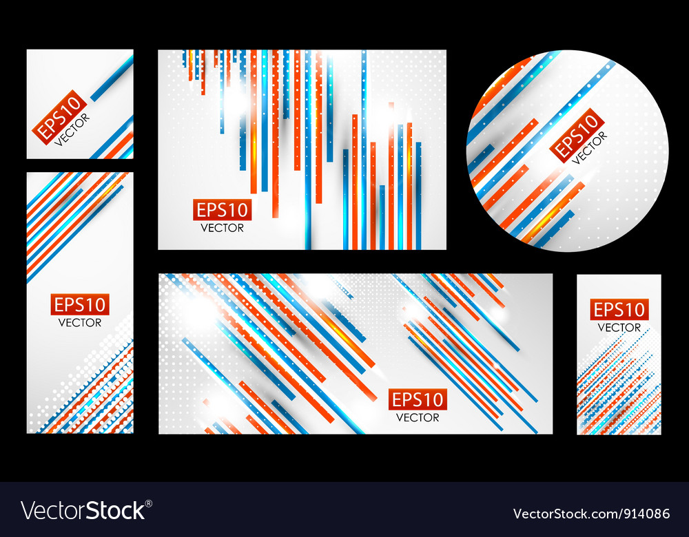 Line banner set vector | Price: 1 Credit (USD $1)