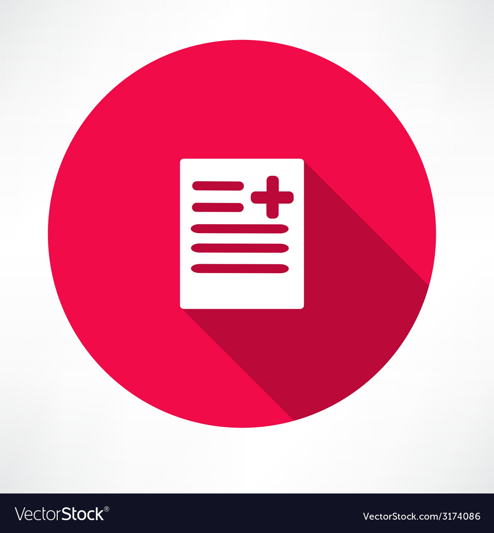 Medical report document vector | Price: 1 Credit (USD $1)