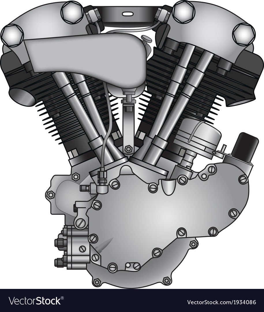 Motorcycle engine vector | Price: 1 Credit (USD $1)