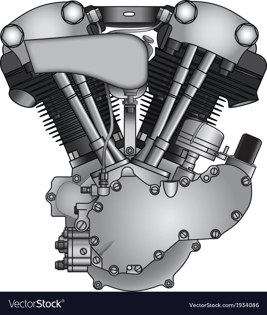 Motorcycle engine vector | Price: 1 Credit (USD $1)