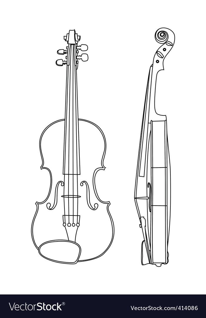 illustration of violin vector | Price: 1 Credit (USD $1)