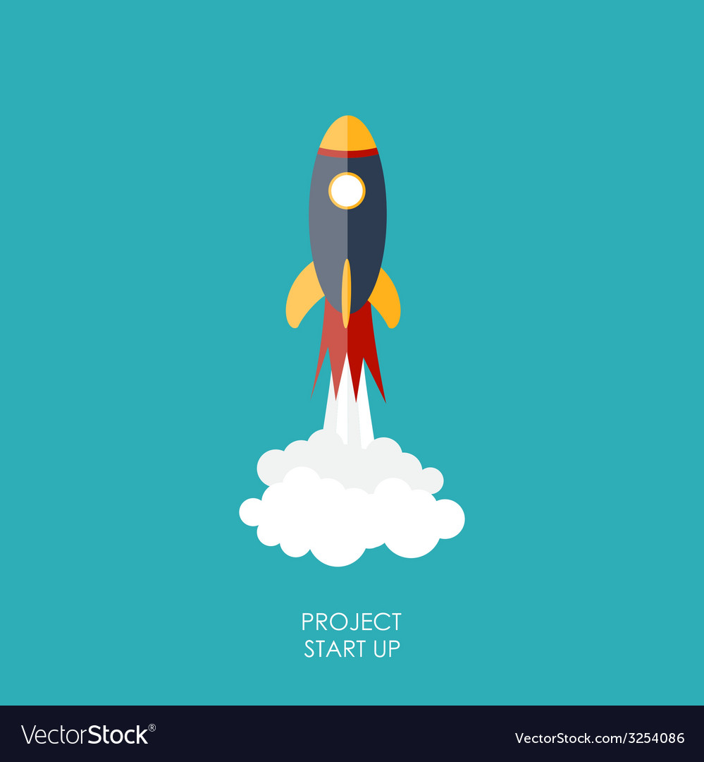 Quick start up flat concept vector | Price: 1 Credit (USD $1)