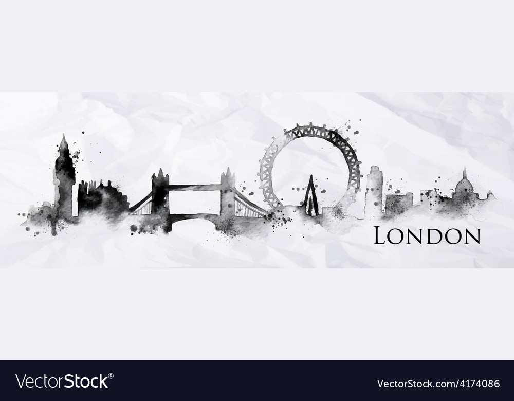 Silhouette ink london vector | Price: 3 Credit (USD $3)
