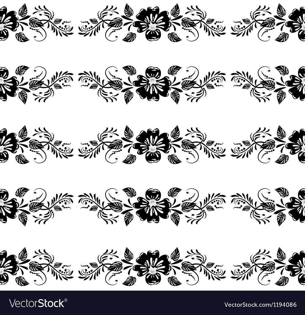 Vintage floral border vector   Price: 1 Credit (USD $1)