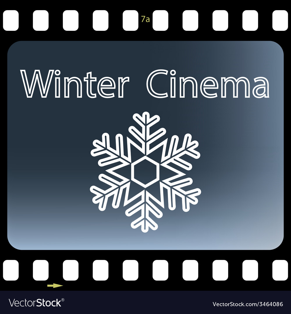 Winter cinema vector | Price: 1 Credit (USD $1)