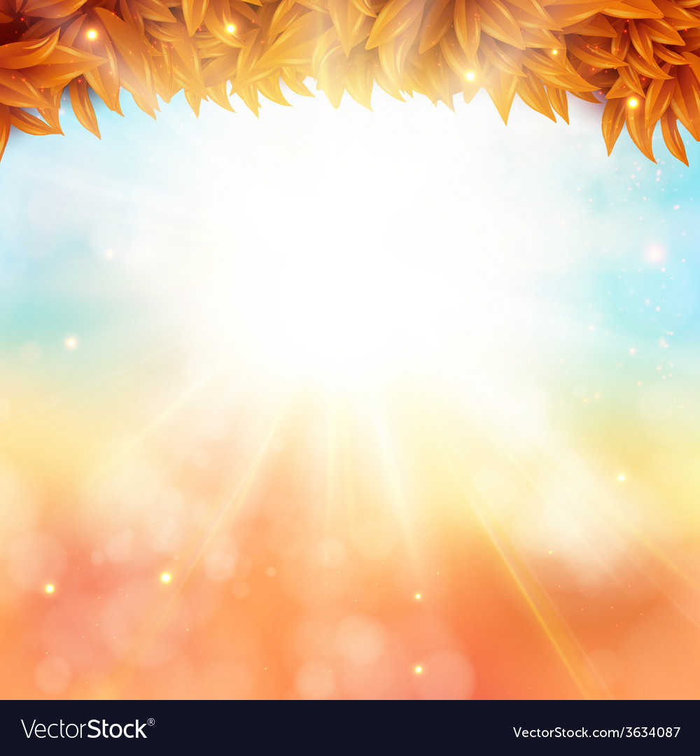 Abstract autumn poster with shining sun and vector | Price: 1 Credit (USD $1)