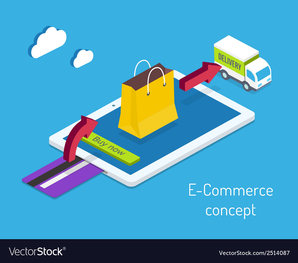 E-commerce or internet shopping concept vector | Price: 1 Credit (USD $1)