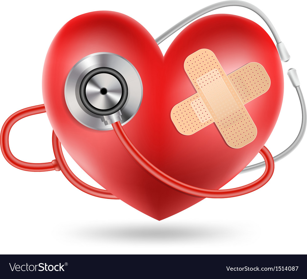 Heart stethoscope vector | Price: 3 Credit (USD $3)