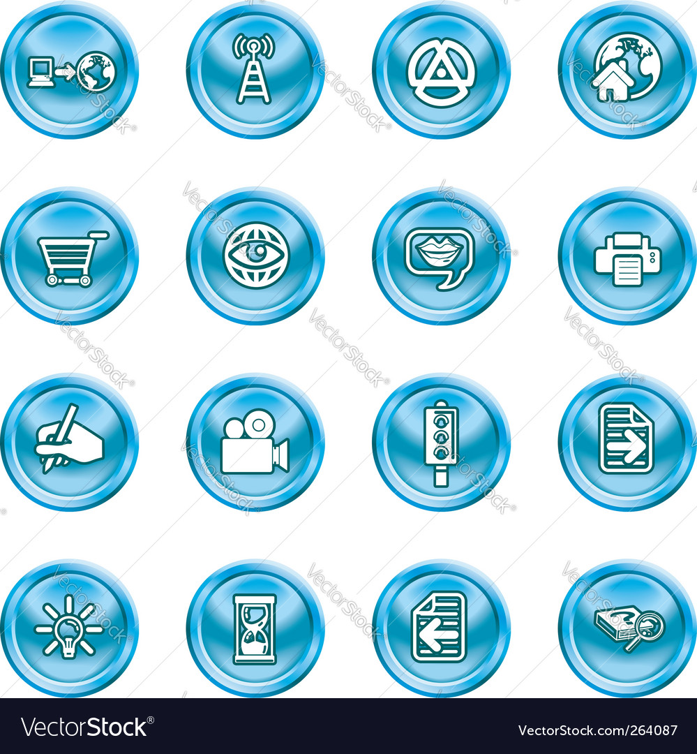 Internet and computing media icons vector | Price: 1 Credit (USD $1)