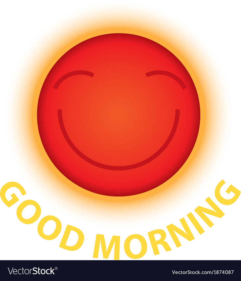 Morning sun smile vector | Price: 1 Credit (USD $1)