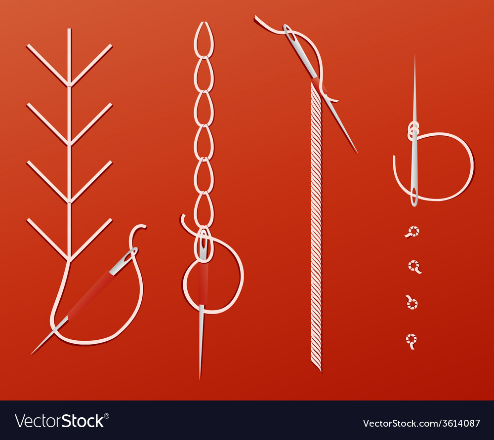 Needles and threads vector | Price: 1 Credit (USD $1)