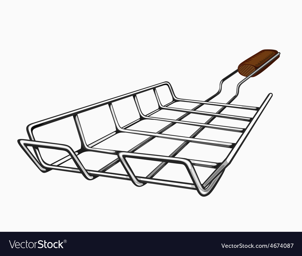 Painted grill for a barbecue vector   Price: 3 Credit (USD $3)