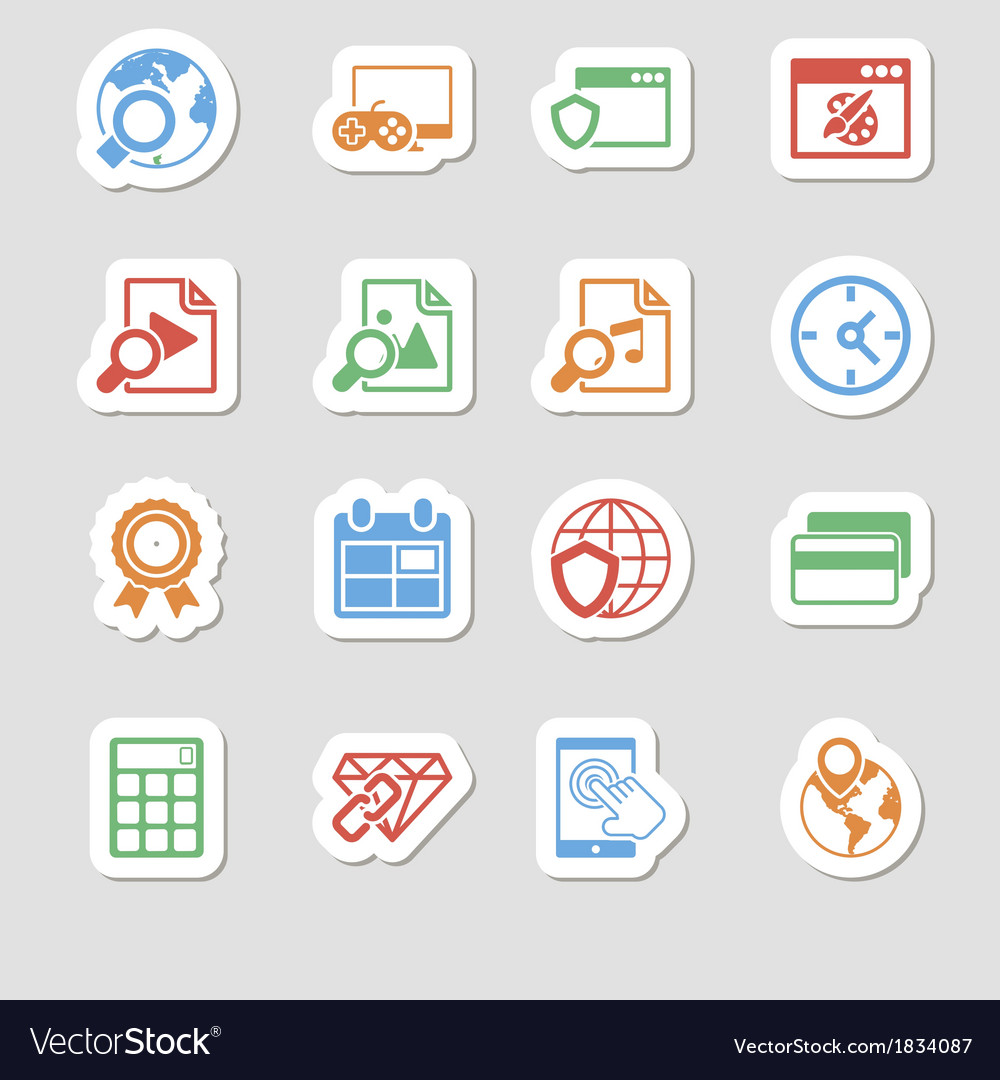 Seo icons as labes vol 3 vector | Price: 1 Credit (USD $1)