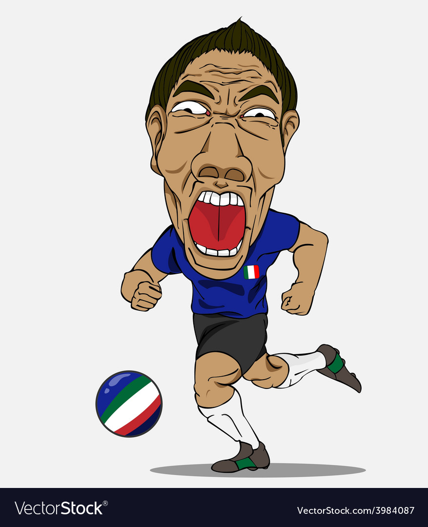 Soccer player italy vector | Price: 1 Credit (USD $1)