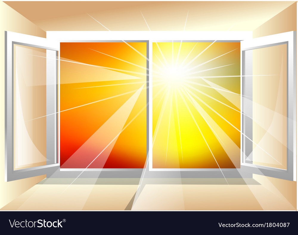 Sunlight in window vector | Price: 1 Credit (USD $1)