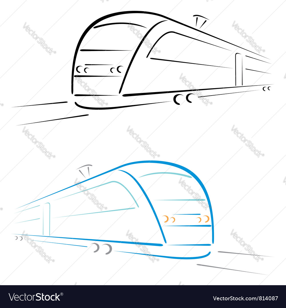 Train symbol vector | Price: 1 Credit (USD $1)