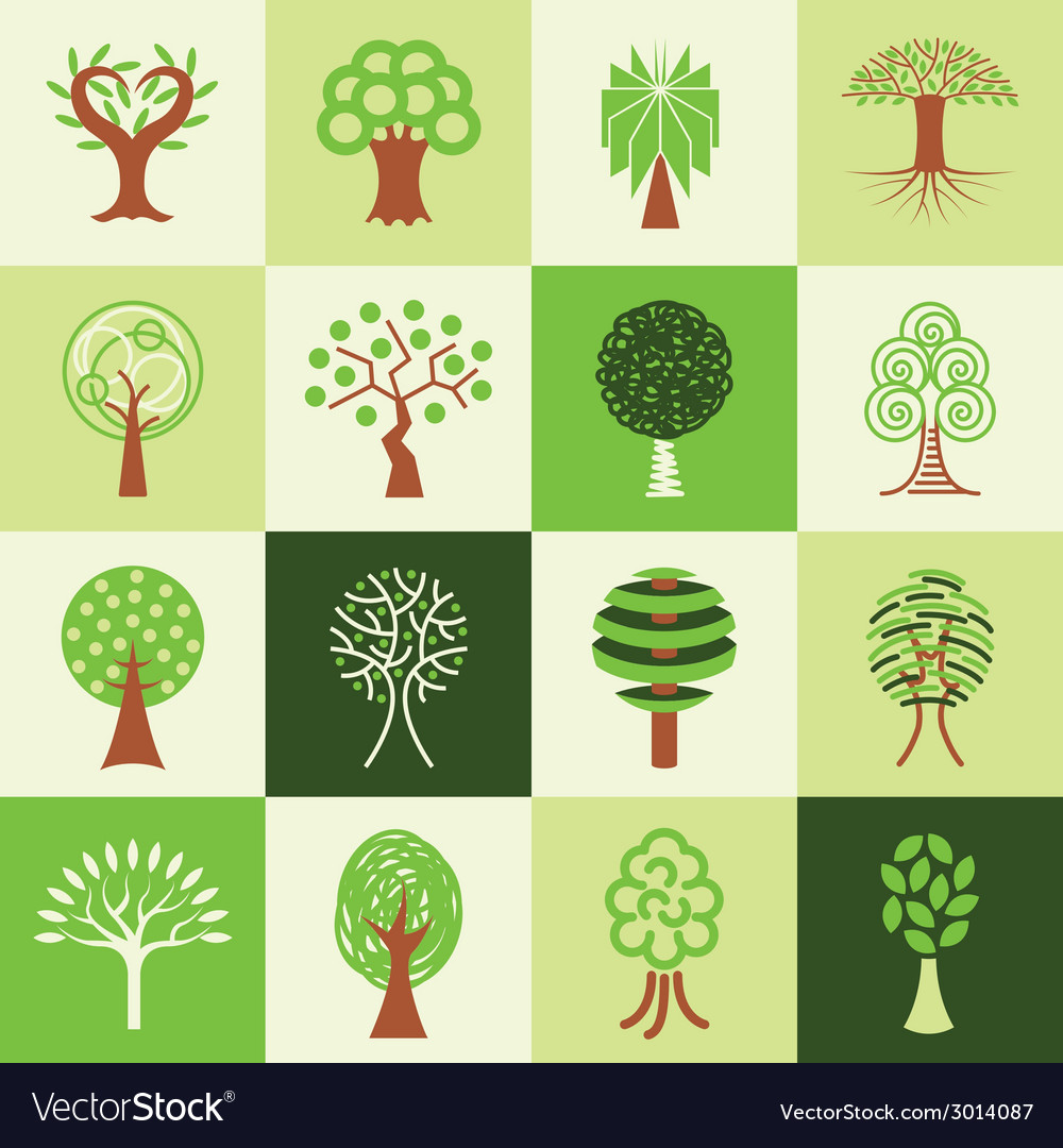 Trees logo icons vector | Price: 1 Credit (USD $1)
