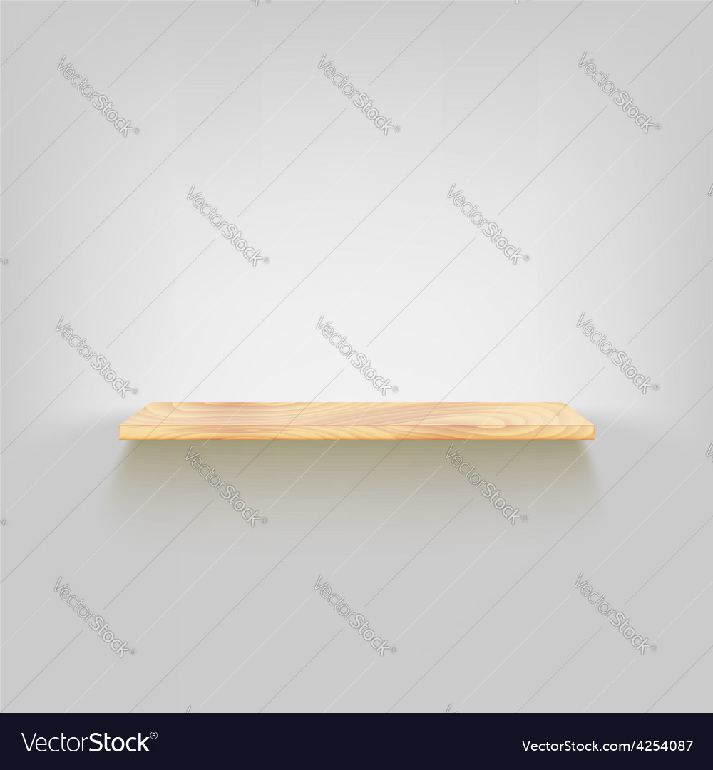 Wood shelf attached to the wall vector | Price: 1 Credit (USD $1)