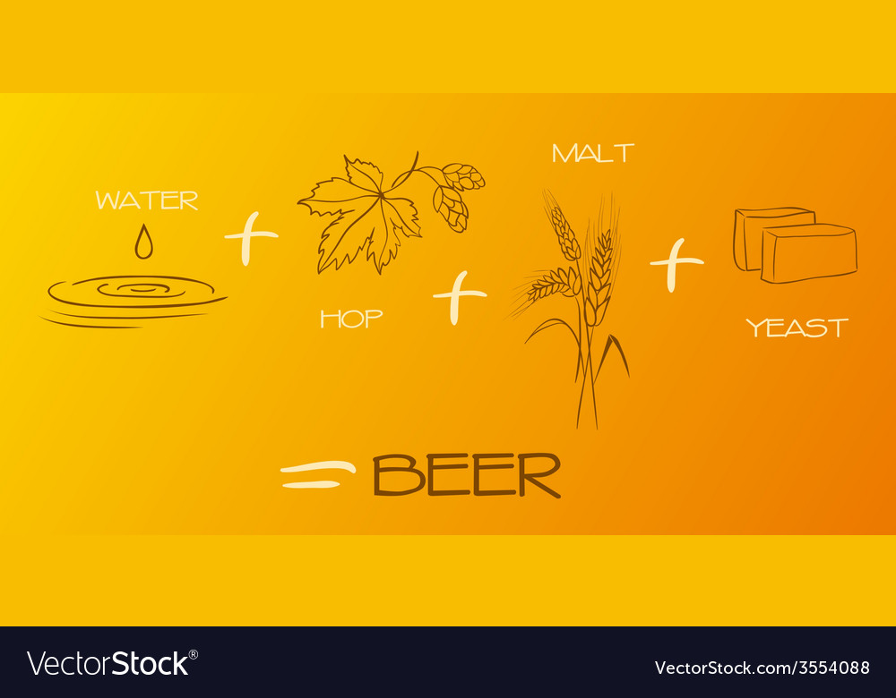 Beer components collection vector | Price: 1 Credit (USD $1)