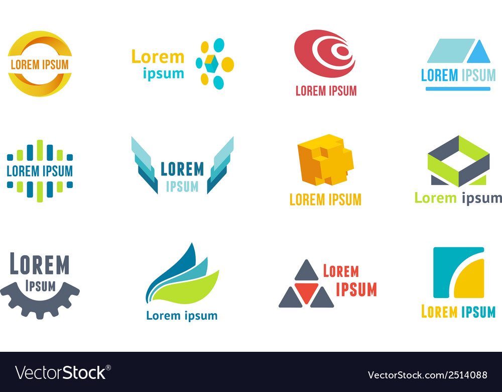 Business emblems icons vector | Price: 1 Credit (USD $1)