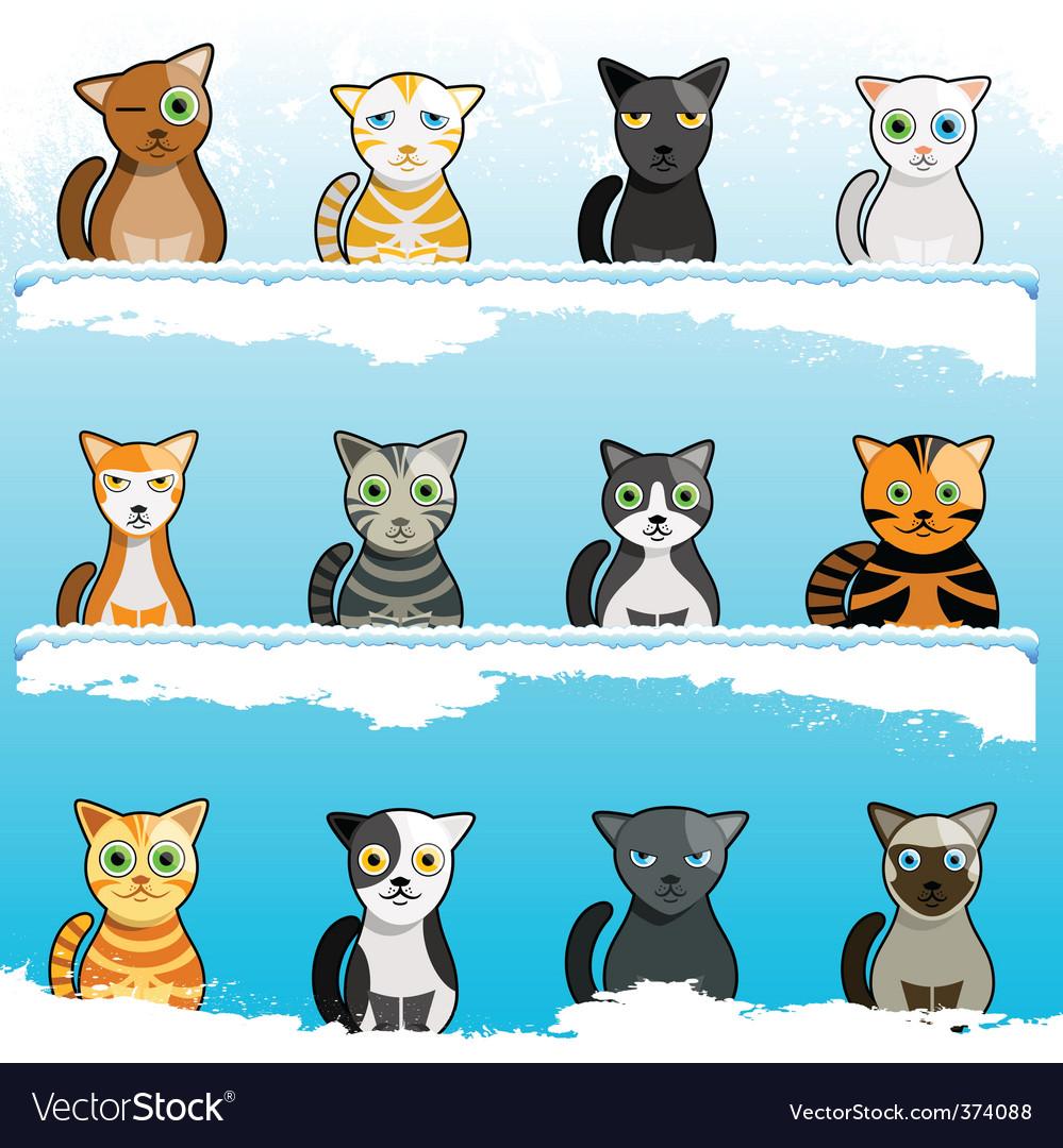 Cartoon cats vector | Price: 3 Credit (USD $3)