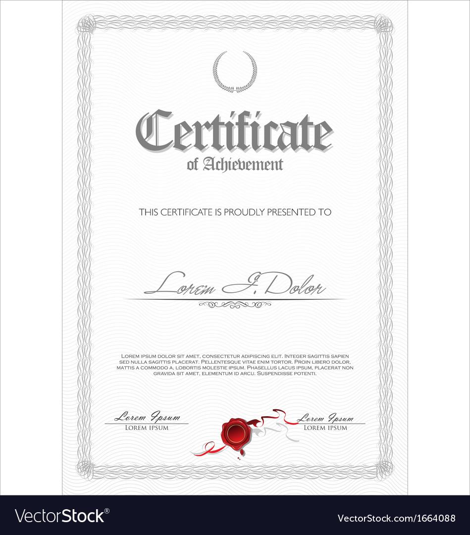 Certificate template vector | Price: 1 Credit (USD $1)