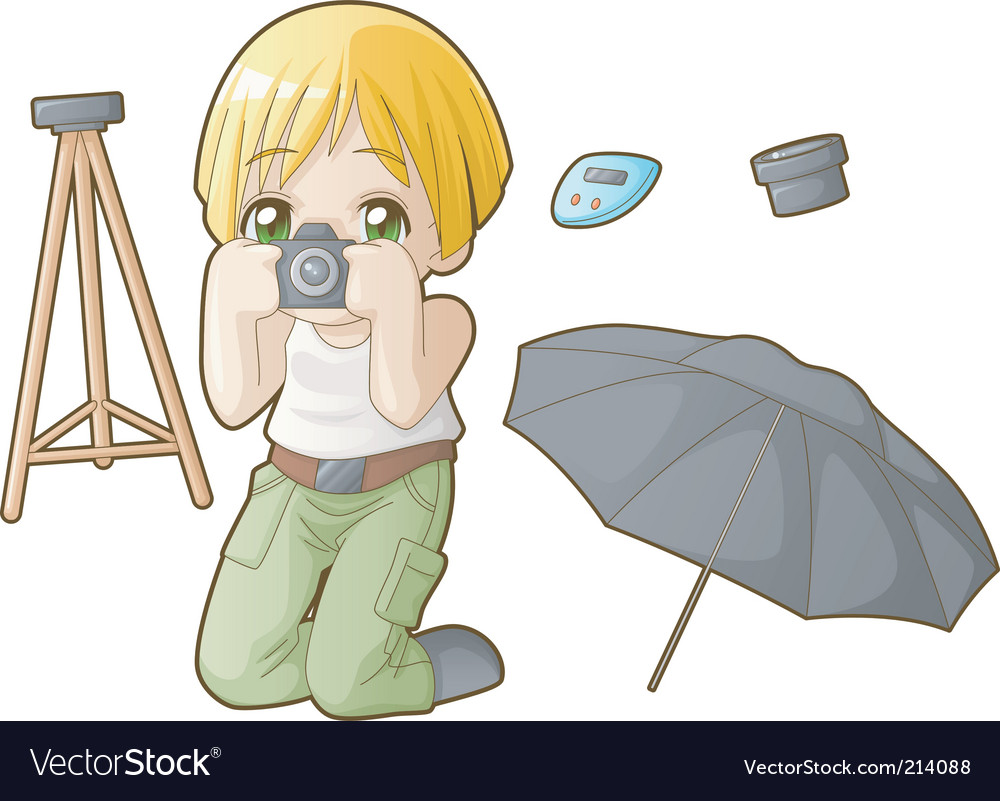 Chibi professions sets photographer vector | Price: 3 Credit (USD $3)