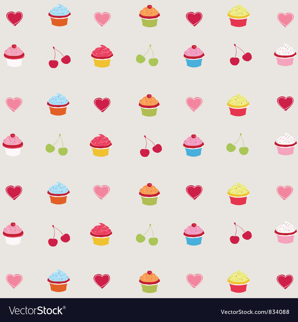 Decorated cupcakes vector | Price: 1 Credit (USD $1)