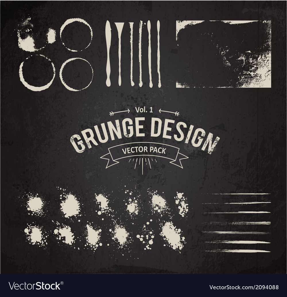 Dirty grunge elements set vector | Price: 1 Credit (USD $1)