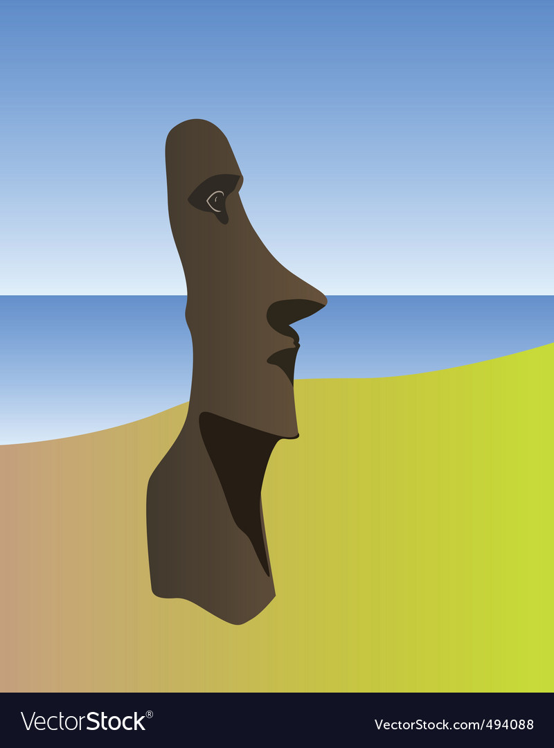 Easter island idol vector | Price: 1 Credit (USD $1)