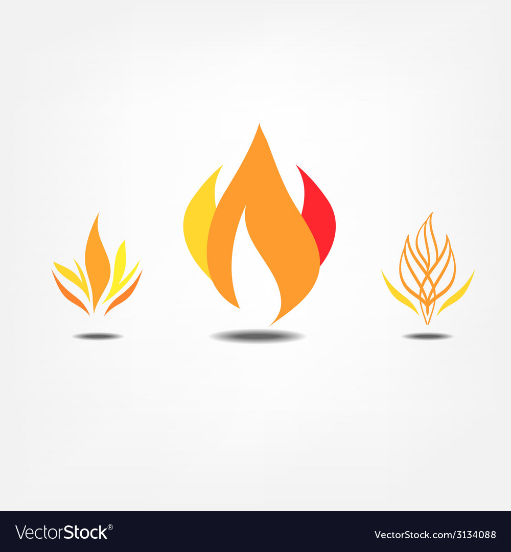 Flame icons vector | Price: 1 Credit (USD $1)