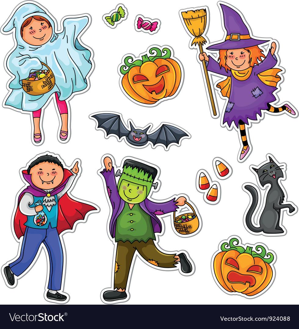 Halloween kids vector | Price: 3 Credit (USD $3)