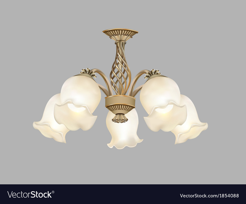 Home chandelier made of glass vector | Price: 1 Credit (USD $1)