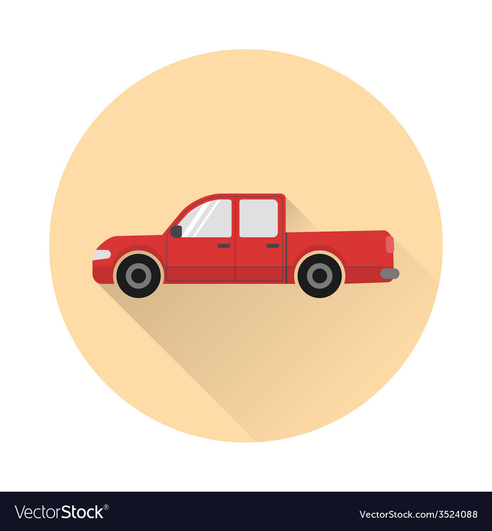Pickup truck icon vector | Price: 1 Credit (USD $1)