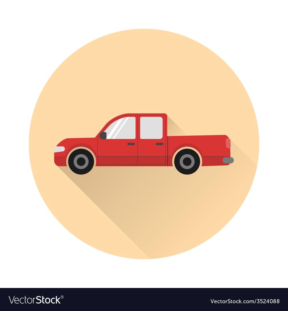 Pickup truck icon vector | Price: 1 Credit (USD $1)