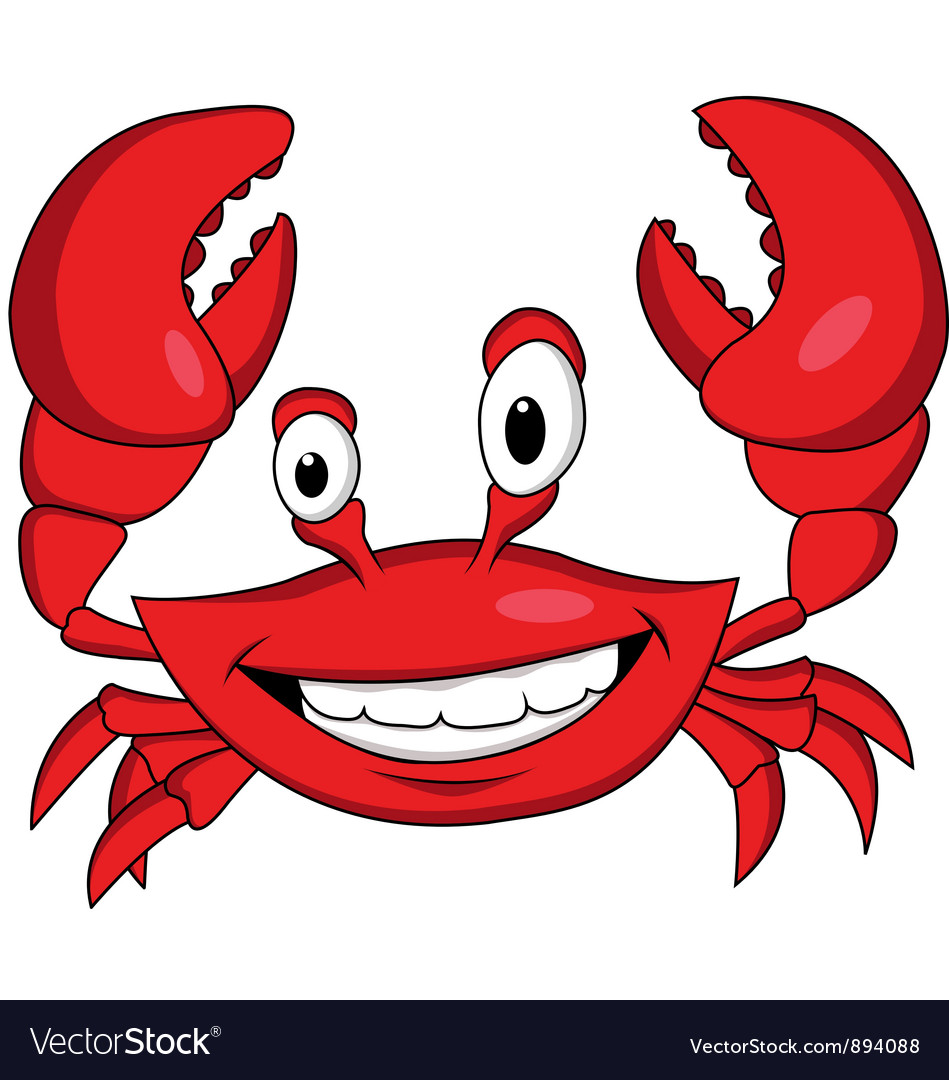 Red crab cartoon vector | Price: 3 Credit (USD $3)