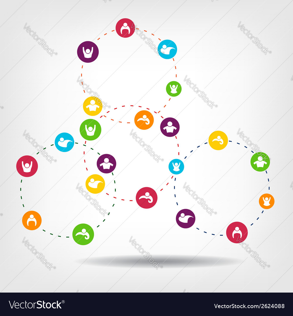 Social network circles vector | Price: 1 Credit (USD $1)